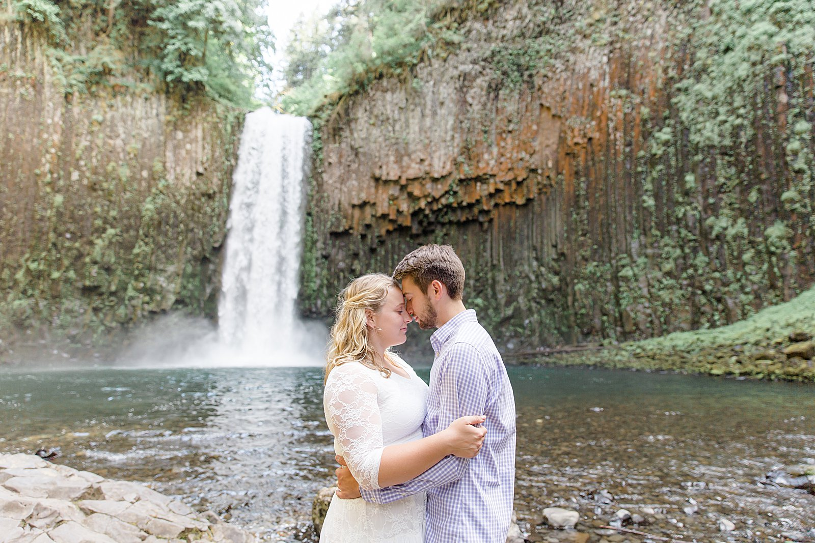 Abiqua Falls Adventure Engagement Session