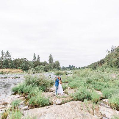 Mr & Mrs Nosko // Backyard Riverside Wedding Portraits