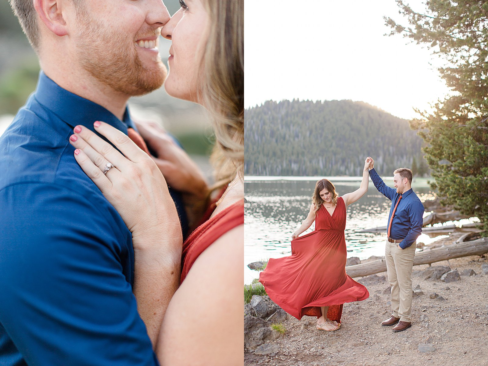 Bend Engagement Session || Bend, Oregon Photographer || Twirling Engagement Photo