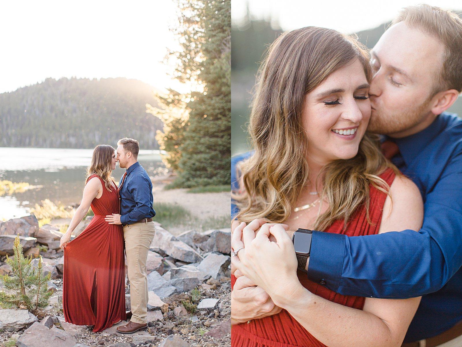 Bend Engagement Session || Bend, Oregon Photographer || Romantic Engagement Photo