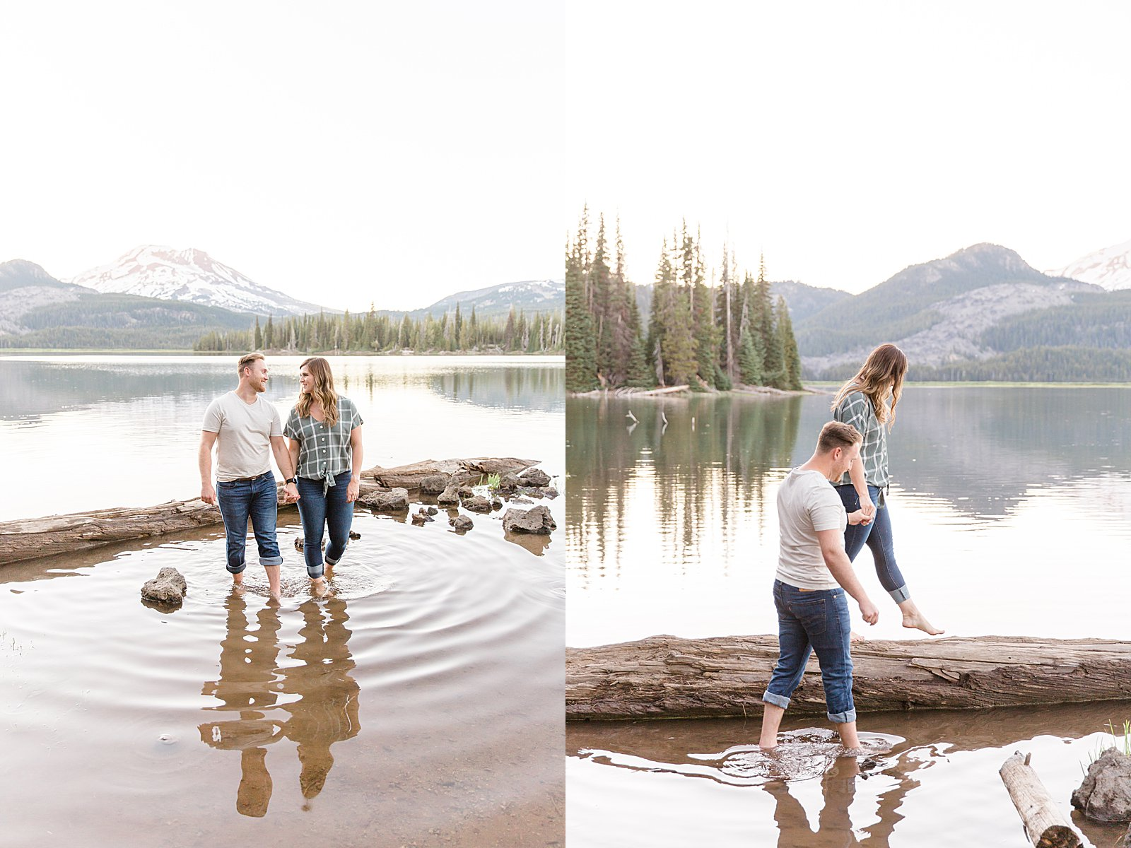 Bend Engagement Session || Bend, Oregon Photographer || Sparks Lake Engagement Photos