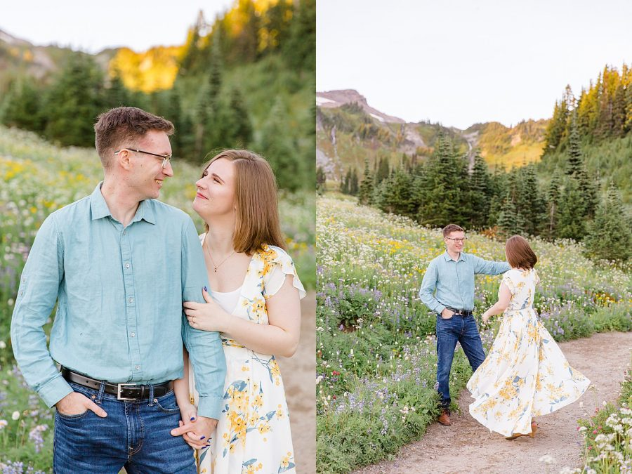 Engagement Session at Mount Rainier - Man and Woman