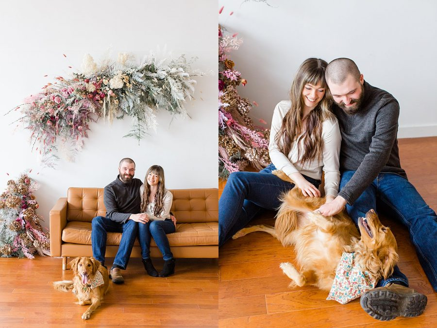 Couple's Session at The Gray Lab - married couple with their dog