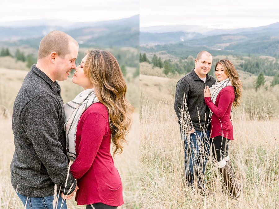 Wintery Engagement Session