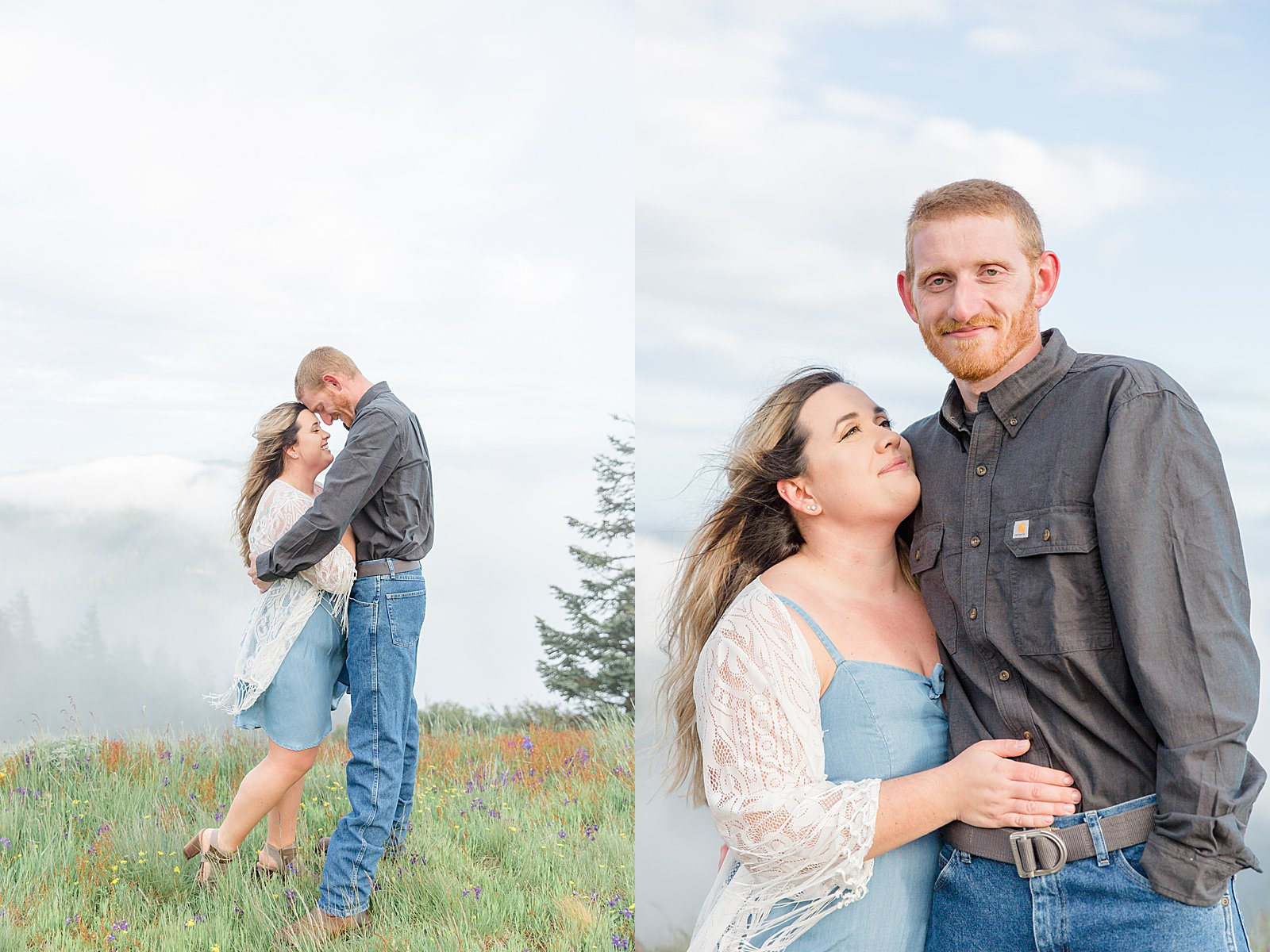 Marys Peak Engagement Session