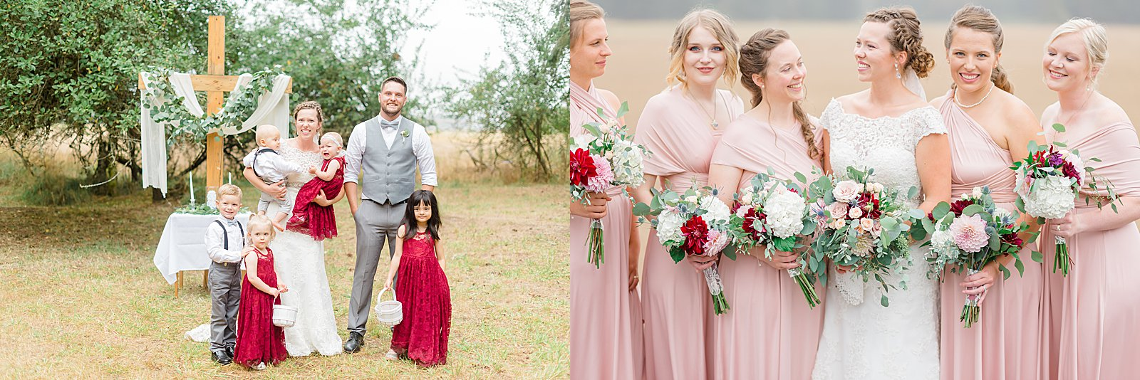 My favorite wedding purchases from Etsy - flower girl and bridesmaid dresses