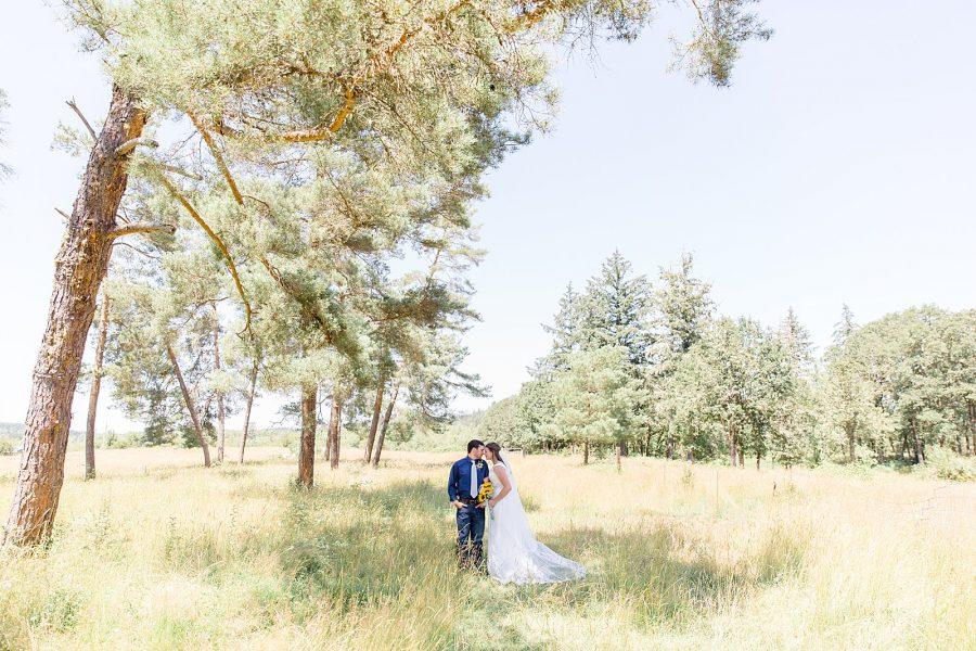 Backyard Wedding Portraits