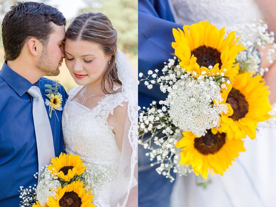 Country Wedding Portraits Sunflowers