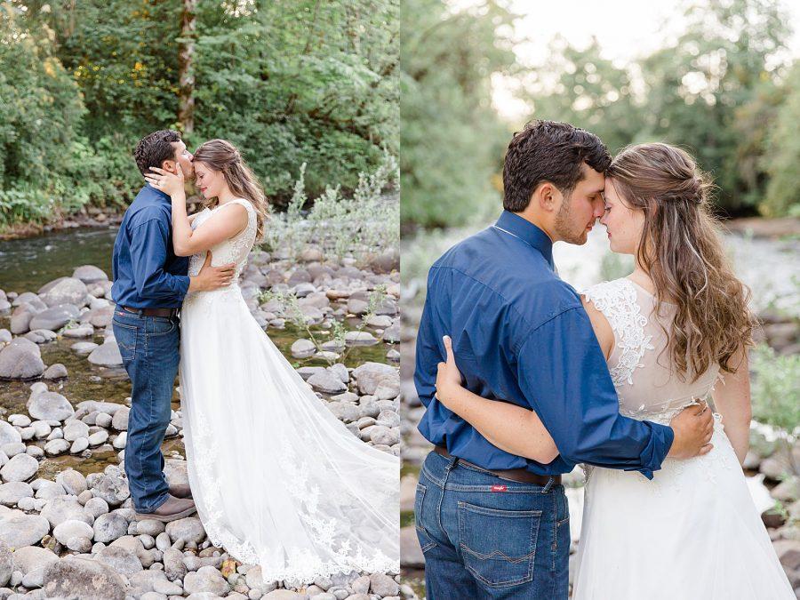 Romantic River Wedding Portraits