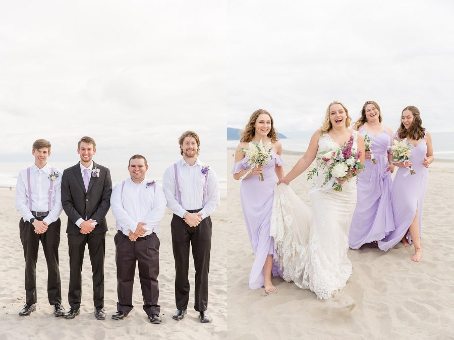 Oregon Coast Elopement - Bridal Party Photos