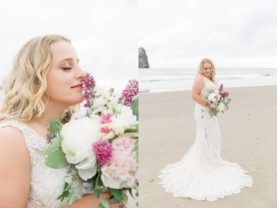 Oregon Coast Elopement - Bridal Portraits