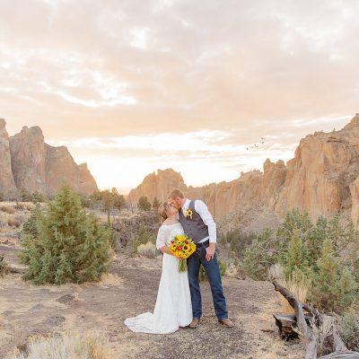 Mr & Mrs Udlock // Smith Rock State Park Elopement