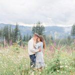 David & Julie // Washington Wildflower Engagement Session